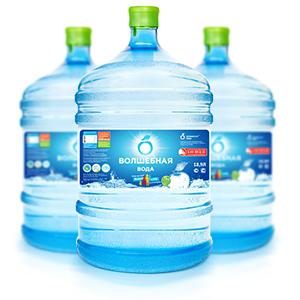 печать этикетки на бутылки 19 литров